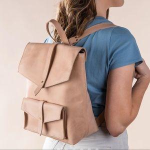 NWT Mini Blush leather Traveler Backpack- Magnolia
